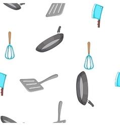 Kitchen pattern cartoon style vector