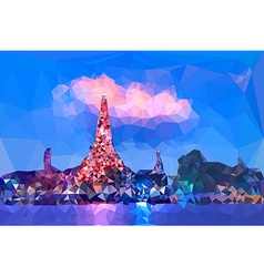 Low poly of wat arun temple vector