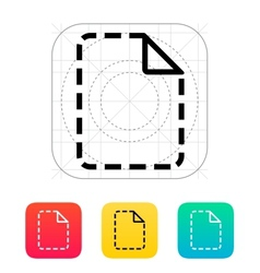 Missing file icon vector