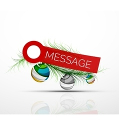 Modern sticker with Christmas decoration vector image vector image