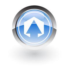 polygon arrow up icon logo vector image vector image