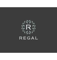 Premium monogram letter r initials logo universal vector