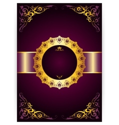 royal invitation card in an old-style vector image vector image