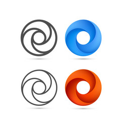 set of abstract infinite loop template vector image