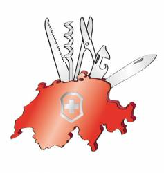 swiss army knife vector image