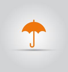 umbrella isolated colored icon vector image vector image