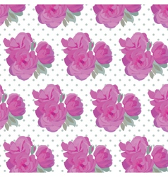 Vintage Watercolor Pink Roses pattern vector image