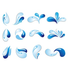 Water wave symbols vector image