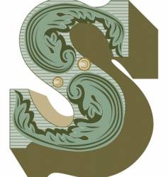 western letter s vector image vector image