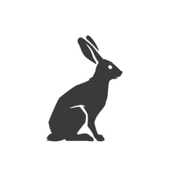 Wild Rabbit Side View Isolated On White Background vector image vector image