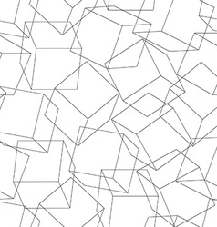 Wireframe 3d blocks in a seamless pattern vector