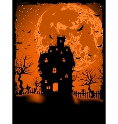 Scary halloween with magical abbey eps 8 vector