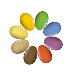 Easter eggs multi colored vector