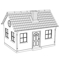 wire-frame house vector image