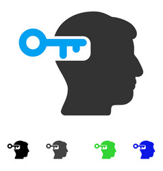 Intellect key flat icon vector