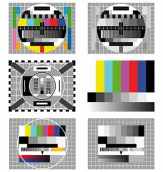 six television test screen vector image
