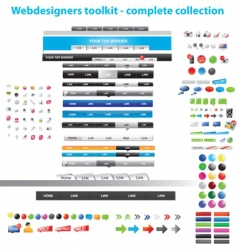 web collection vector image