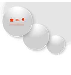 White circle abstract background vector