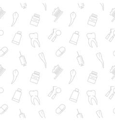 Seamless teeth pattern vector image
