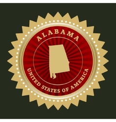 Star label alabama vector