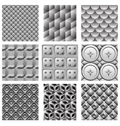 Monochrome pattern set vector