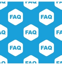 Faq hexagon pattern vector