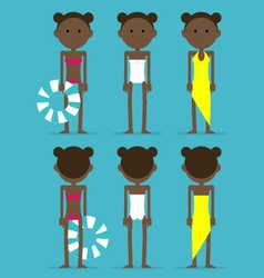 African girl in swimming suit vector