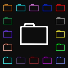 Folder icon sign lots of colorful symbols for your vector