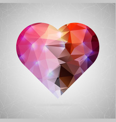 abstract creative concept icon of heart vector image vector image