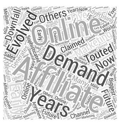 Are affiliates in demand word cloud concept vector