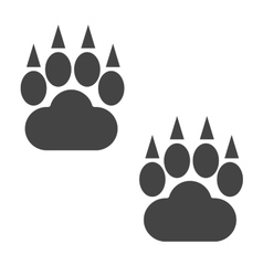 Bear foot tracks isolated steps vector
