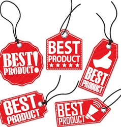 Best product red tag set vector