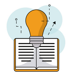 book bulb inspiration idea design vector image vector image