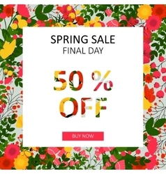 Bright spring sale background vector