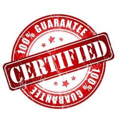 Certified 100 guarantee vector
