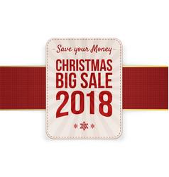 christmas big sale badge vector image vector image