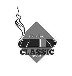 Classic style cigars since 1897 isolated vector