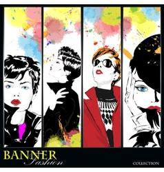 Fashion banner vector image