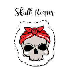 Fashion patch element skull vector