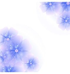 floral corner background purple vector image vector image