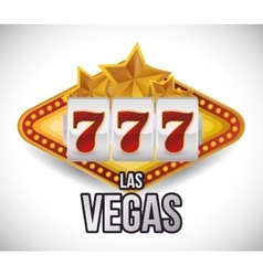Las Vegas design vector image