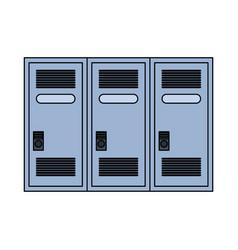 Lockers row icon image vector