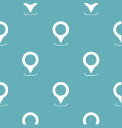 Map pointer pattern seamless blue vector