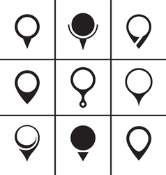 Map pointer set vector image