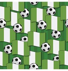 nigeria football pattern vector image vector image
