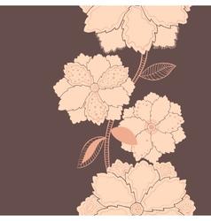 Purple vertical flower pattern vector image
