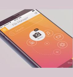 realistic mobile screen design concept vector image vector image