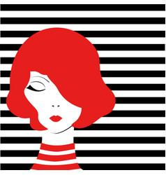 redhead fashion girl vector image vector image