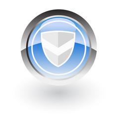 shield icon logo vector image vector image