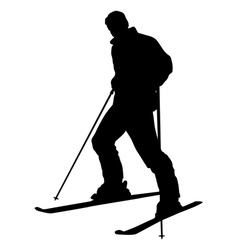 skier silhouette isolated vector image